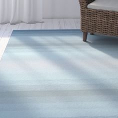 Clowers Ombre Aqua Indoor/Outdoor Area Rug
