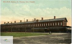 Michigan Central Railway Station, St. Thomas, circa 1910 by Elgin County Archives, via Flickr