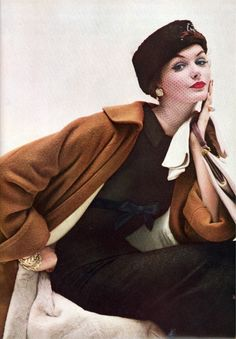 beautiful brown Vogue - October 1956