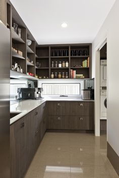 Butlers pantry australia, brown with glass window slash back (another angle)- Google Search