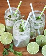 Mint Lime aid - we do this pretty regularly throughout the summer.  Still a favorite!