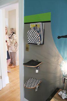 deko ideen kinderkram privat selfmade skateboard schlafzimmer skateboard regale skateboards skateboard mbel skateboardentwurf - Skateboard Regal Kinder Schlafzimmer