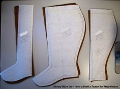 How to Draft a Pattern for Fitted Gaiters - Finished