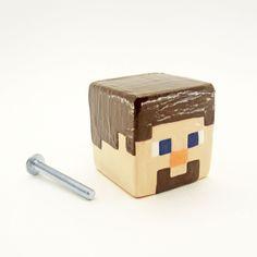 Minecraft Zombie Drawer Knob Kids Room Decor Minecraft Decor Video Game Cabinet Knob