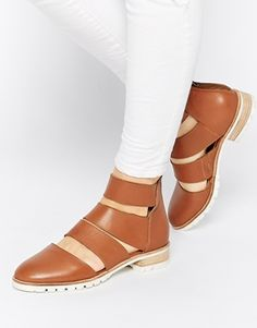 Enlarge ASOS ALTERNATIVELY Cut Out Leather Ankle Boots