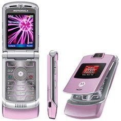 Motorola RAZR - Pink (Verizon) Cellular Phone for sale online Newest Cell Phones, New Phones, Mobile Phones, Refurbished Phones, Phones For Sale, Cell Phone Plans, Flip Phones, Girly, Old Phone