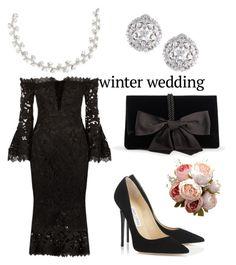 """Wedding"" by puglisichiara ❤ liked on Polyvore featuring Nicholas, Ann Taylor, Jimmy Choo, Carolee and Fallon"