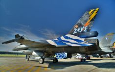 F16 Zeus_2 Fighter Aircraft, Fighter Jets, Hellenic Air Force, Air Tattoo, Aircraft Painting, F 16, Air Show, Military Art, Military Aircraft