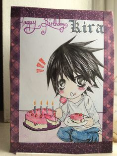 My little sisters name is Kira so I made her this card! :3