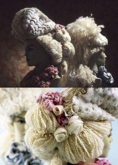 Felted Baroque Wig by EnGuzel2013