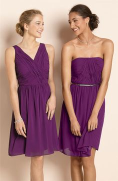 I got the dress on the left for Nik but it didn't work for her....if any of the others girls are interested, its a size 8 and gorgeous.