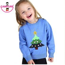Campure Baby Weaters Fashion Children Sweater Christmas Tree Kids Winter-Clothing Knitting Baby Outerwear Girls And Boys Cute(China (Mainland))