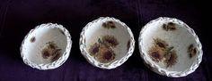 Papierowa wiklina Moniki: Koszyczki ze słonecznikami Sugar Bowl, Bowl Set, Pudding, Desserts, Food, Tailgate Desserts, Deserts, Custard Pudding, Essen