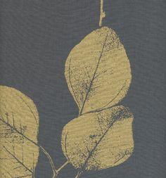 leaf in black & gold from jocelyn warner #fabric #black #gold