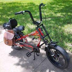Photos of custom motorized bicycles.See OCC Schwinn Stingray choppers we've motorized.Also rat rods & cruisers, e-bikes or ones with gas and electric motors. Bicycle Sidecar, Tricycle Bike, Bike Chopper, Gas Powered Bicycle, Banana Seat Bike, Lowrider Bicycle, Bicycles For Sale, Bike Leathers, Motorised Bike