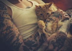 tattoos and kitty love