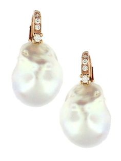 Baroque Pearl Earrings l Jennifer Miller NY