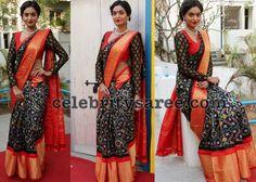 Sharon Fernandes Ikkat Saree - Saree Blouse Patterns