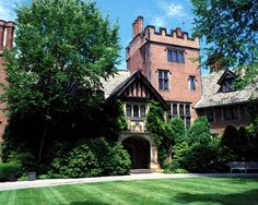 F.A. Seiberling (founder of Goodyear Tire...) built the 64,500 sq. ft. Stan Hywet Hall in 1912. With 18 bedrooms, he had plenty of rooms for guests to visit the 70 acres of gardens - Akron, Ohio