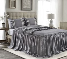 The 8 Best Bedding Sets for guys [June 2020] - Famrhouse Bedding Set King Size Comforters, Bedspreads Comforters, Queen Comforter Sets, Bedding Sets, Luxury Bedspreads, Ruffle Bed Skirts, Ruffle Bedding, Dust Ruffle, Ruffles