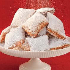 A recipe for traditional New Orleans Beignets.