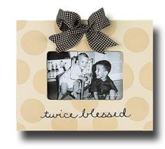 """I have far too many picture frames but this """"twice blessed"""" frame is so cute! Baby Picture Frames, Little Princess, Baby Pictures, Blessed, Crafty, Cool Stuff, Cute, How To Make, Boys"""