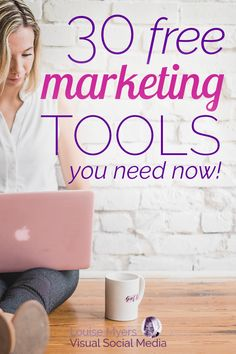 Need free marketing tools? Here are 30 free ways to create content, schedule social media, design graphics, edit videos, and more to grow your business now! Marketing Budget, Network Marketing Tips, Social Media Marketing Business, Digital Marketing Strategy, Marketing Tools, Content Marketing, Internet Marketing, Marketing Strategies, Marketing Ideas