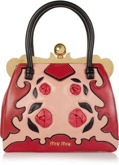 MIU MIU  Rosetteappliqué Leather Bag