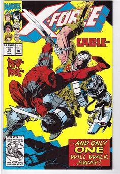 X-Force #15 Oct 1992 Marvel Comic Book Cable Deadpool Sam Guthrie