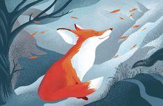 Illustration by Margarita Kukhtina Winter is coming #winter #fox #illustration #gitkadraws
