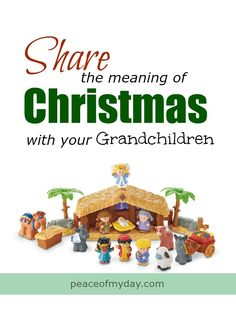 Share the joy of Christmas with your grandkids by providing them fun activities that explain the true meaning of Christmas. Christmas Nativity, Family Christmas, All Things Christmas, Christmas Holidays, Christmas Crafts, Watch Christmas Movies, True Meaning Of Christmas, Nativity Scenes, Organizing Tips