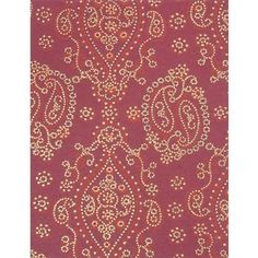 Red Paisley on Burgundy Fine Paper
