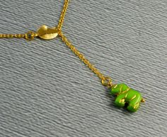 Elephant Necklace Elephant Elephant Jewelry  by ManoCelebrates, $16.00