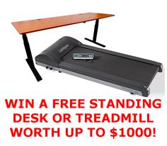 We're giving away a free, high end standing desk or treadmill worth $1,000!  Don't miss out on the action!  ENTER TO WIN! http://www.dailygrindhealth.com/contests-and-giveaways/