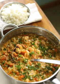Crawfish, Shrimp, and lump crabmeat etouffee