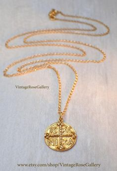Coin Cross Necklace, Byzantine Cross, Byzantine Cross Necklace, by VintageRoseGallery Jewelry Shop, Jewelry Stores, Jewelry Art, Etsy Jewelry, Handmade Jewelry, Fashion Jewelry, Handmade Items, Gemstone Bracelets, Bracelets For Men