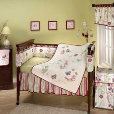 Alexis Garden 7 Piece Baby Crib Bedding Set with Bumper by Nojo by Crown Crafts NoJo, http://www.amazon.com/dp/B009V59YES/ref=cm_sw_r_pi_dp_uii.rb17BQ9Q6