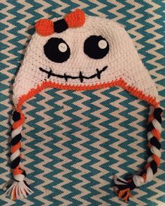 Halloween crocheted girls ghost hat by CraftyDiva23 on Etsy