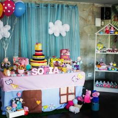 Festa Peppa Pig de Oficina MakeArt by Priscilla Keim #Peppa #personalizados #scrap #scrapfesta #exclusivo #peppaparty #Peppapig