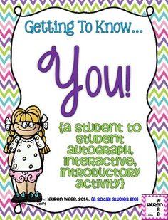Beginning of the School Year Student Autograph Activity! (c) Lauren Webb 2014 {a social studies life}