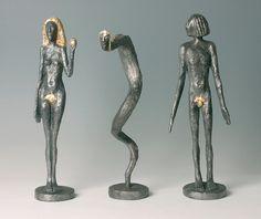 Olbram Zoubek (Czech, born 1926) Adam, Eve and the serpent, N/D bronze, gold, 45.5 cm Eve, Bronze, Sculpture, Gold, Kunst, Sculptures, Sculpting, Statue, Carving