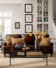 Living Room Decor Ideas Brown Leather Sofa decor around distressed leather sofa | decor ideas | pinterest