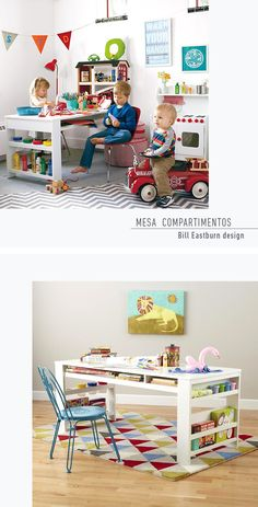 Escritorios infantiles, los mejores diseños. Kid´s Desk, best designs. Bill Eastburn Design