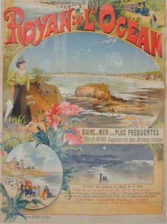 Royan, Royan sur l'Océan, affiche des Chemins de Fer