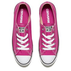 Converse Women's Chuck Taylor All Star Dainty Ox Trainers Plastic... ($68) ❤ liked on Polyvore featuring shoes, sneakers, zapatos, white black shoes, white and black shoes, pink sneakers, plastic shoes and black white sneakers