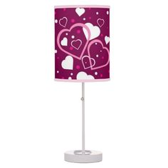 Hearts Galore Table Lamp