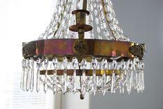 19th century crystal chandelier / www.livinupanotch.com 19th Century, Chandelier, Ceiling Lights, Crystals, Lighting, Home Decor, Candelabra, Decoration Home, Room Decor