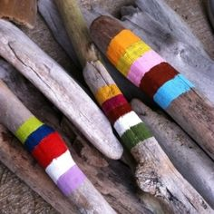 Sometimes, painting driftwood or branches you find in the yard is all you need to make you happy.
