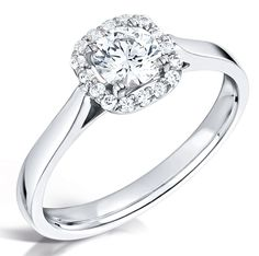 Classic Round Diamond Single Halo Ring from Diamond Heaven. View the full range of Halo Engagement Rings online now, or visit us in store. Engagement Rings Uk, Perfect Engagement Ring, Ring Watch, Halo Rings, Halo Diamond, Round Diamonds, Free Delivery, Stuff To Buy, Halo Setting