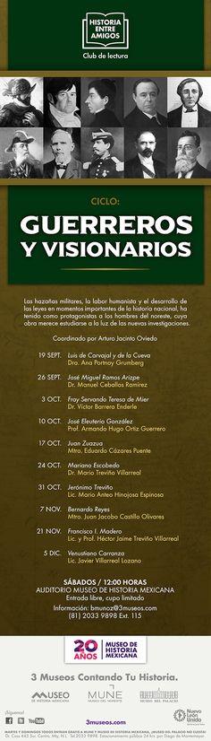 Ciclo: Guerreros y Visionarios / Septiembre 19 / 12:00 hrs.